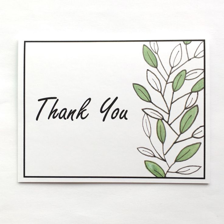 """Thank You """"Leaves"""" Card by Xangelle on Etsy https://www.etsy.com/ca/listing/398704117/thank-you-leaves-card"""