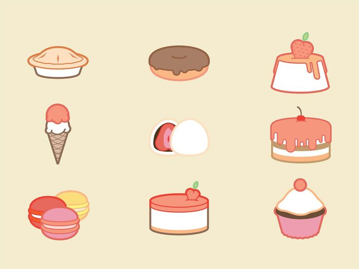 Free Sweets or Desserts Icons