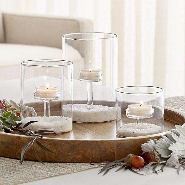 Elsa Glass Tealight Holders Crate And Barrel Glass Tea Light Holders Tealight Candle Holders Glass Tealight Glass tea light candle holder
