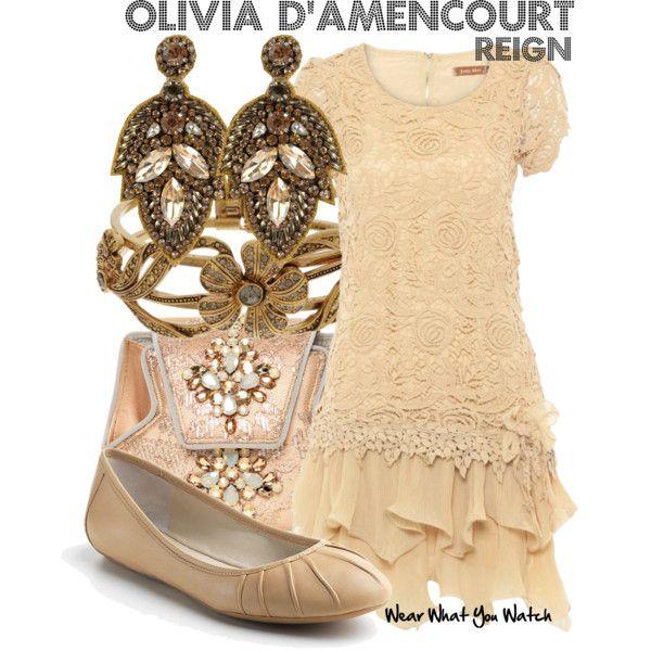 Inspired by Yael Grobglas as Olivia D'Amencourt on Reign.