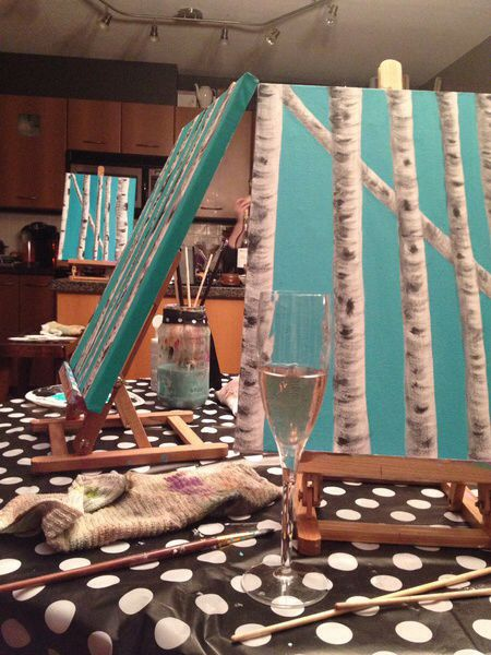 Birch tree painting pARTy at the NY Grill and Bistro - May 28 2014 Book your ticket here www.zealousart.com/tickets