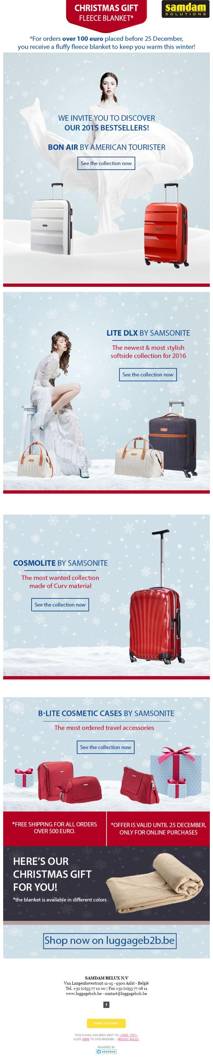 Newsletter design for LuggageB2B.be
