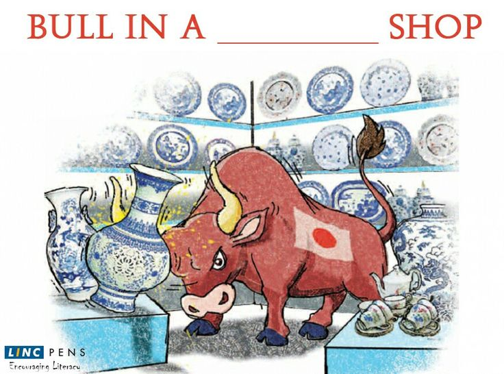 Complete the ‪#‎Idiom‬: Bull in a _______Shop ‪#‎WordFun‬