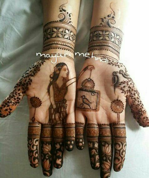 The Most Interesting Mehendi Designs From Real Weddings In 2016!   WedMeGood - Best Indian Wedding Blog for Planning & Ideas.