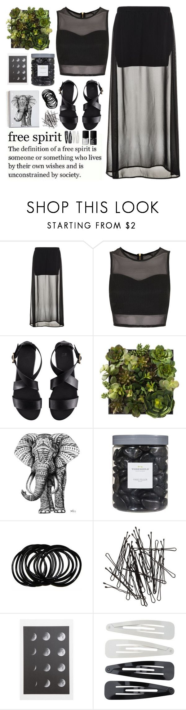 """free spirit"" by vanessadxy ❤ liked on Polyvore featuring Benetton, Topshop, H&M, Threshold, Forever 21, NARS Cosmetics, black, simpleset, definition and creative"