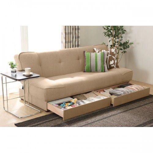 収納付きソファベッドが便利♪オススメの収納付きソファベッドで ... ニトリの収納付ソファベッド