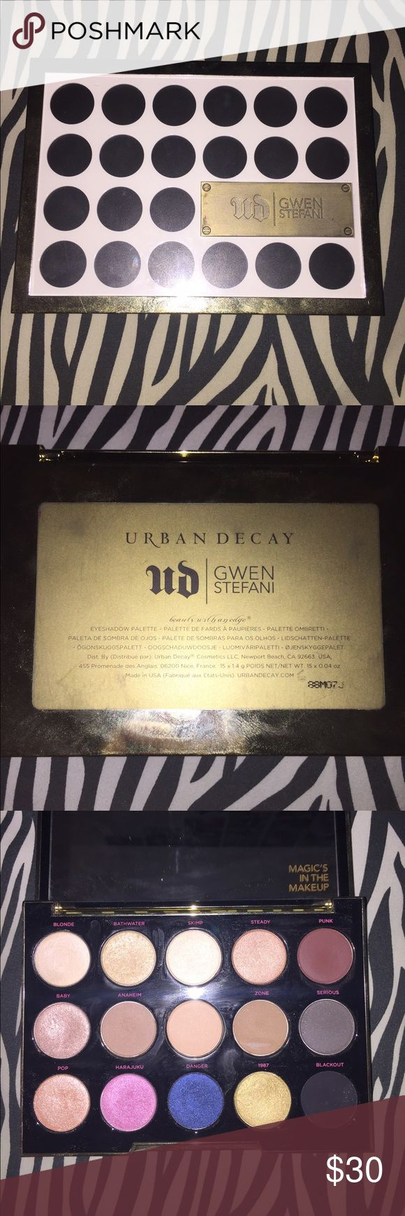 Authentic UD Gwen Stefan Palette ONLY SWATCHED! I do clean and disinfect all of my makeup! Urban Decay Makeup Eyeshadow