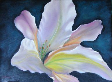 bloemen schilderen in de stijl van Gary Jenkins