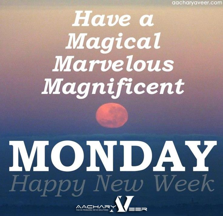 #Happy_Monday New week New goals New Challenges Continued success... Have a Magical, Marvelous & Magnificent Monday!!!