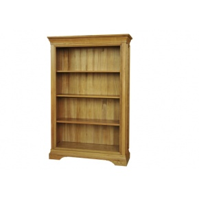 Solid Oak - FRBK5 Lyon Oak 5FT Bookcase  www.easyfurn.co.uk