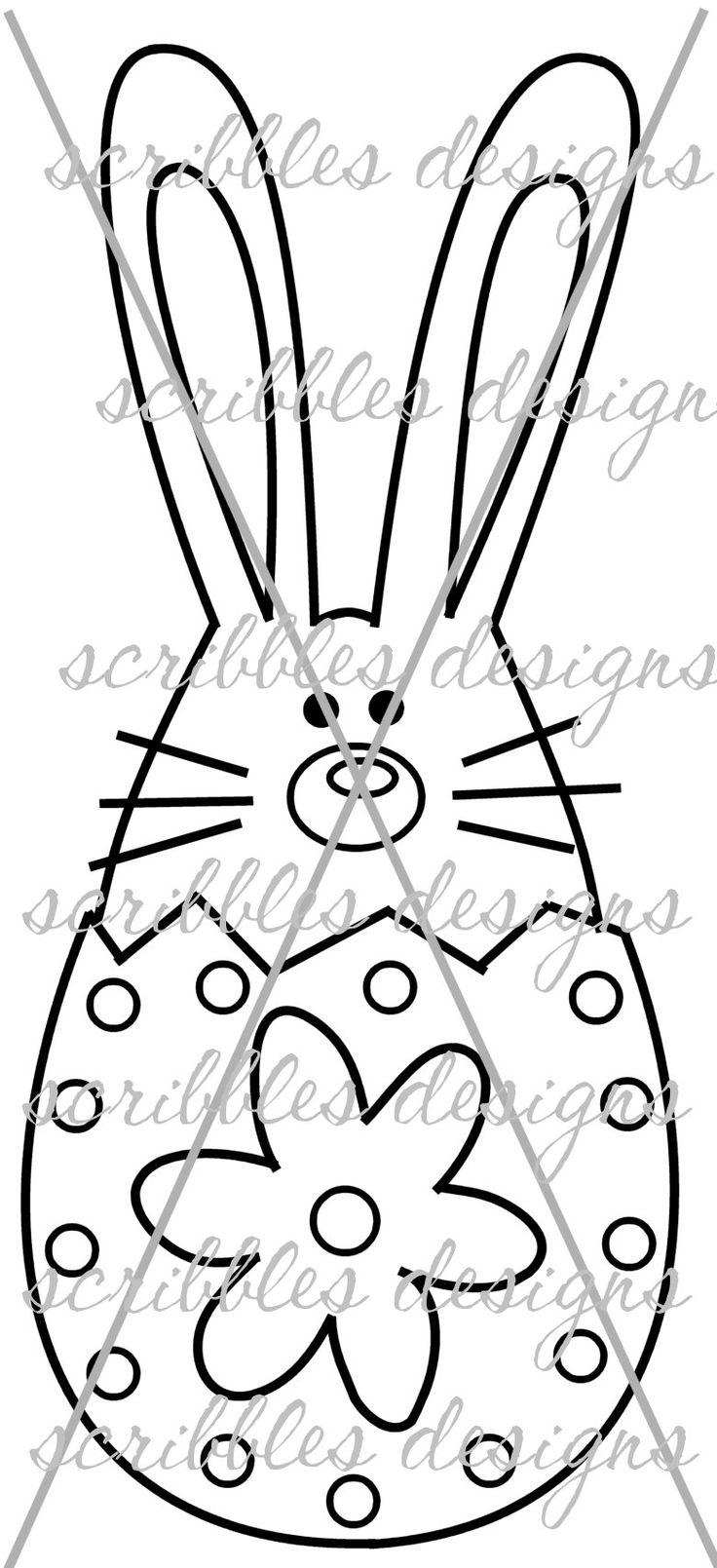 $3.00 Hoppy Egg 6 (http://buyscribblesdesigns.blogspot.ca/2014/03/428-hoppy-egg-6-300.html) #digital stamps #digis #bunny #Easter #egg #scribbles designs