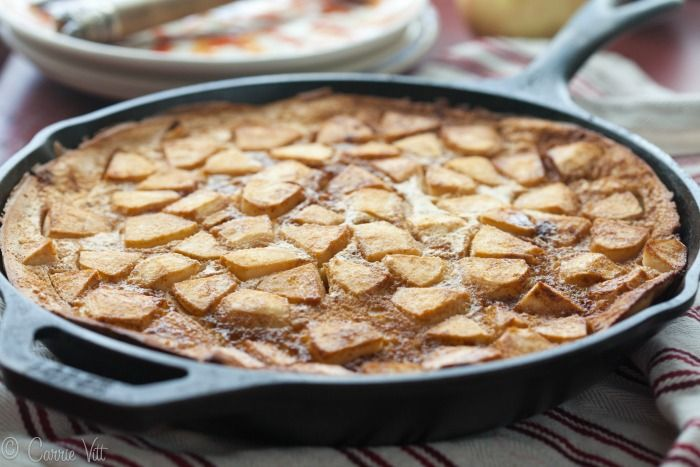 Apple Pancake (Grain-Free, Paleo)