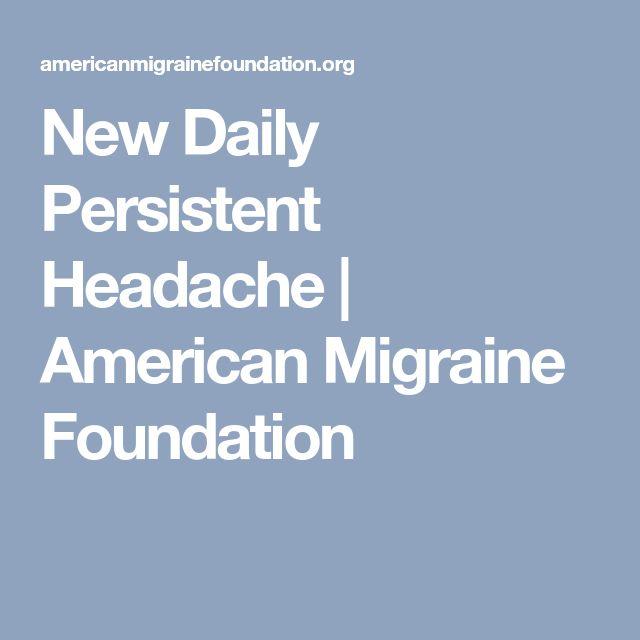 New Daily Persistent Headache   American Migraine Foundation