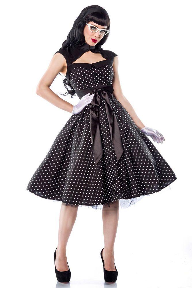3b69c2a38047b6 Rockabilly Kleid hochwertiges Kleid im 50er Jahre Style Retro Kleid  gepunktet