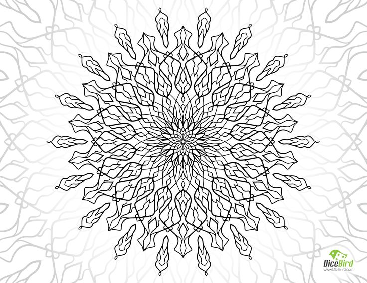 Luxury Free Coloring Pages For Adults Only 67 Magic Flower free printable