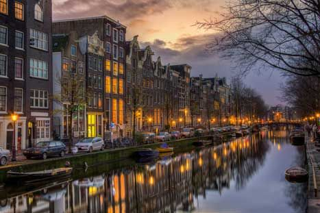 20 Free Things to do in Amsterdam  'Coloured Amsterdam' by Abderazak Tissoukai / Flickr / Getty Images