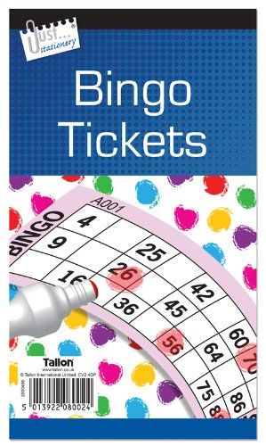 Jumbo Bingo Book / Pad 480 Tickets. 6 To View Buy 1 Get 1 Free (big Bold Easy To Read Numbers)