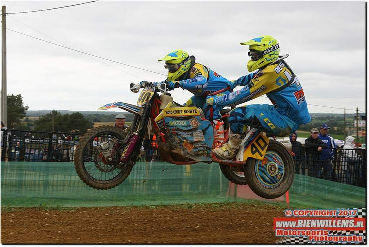 World Championship Sidecarcross round 6 in Iffendic, France on 2 July 2017