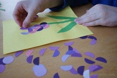 Hiacynt z kółek.  Spring flower kids craft