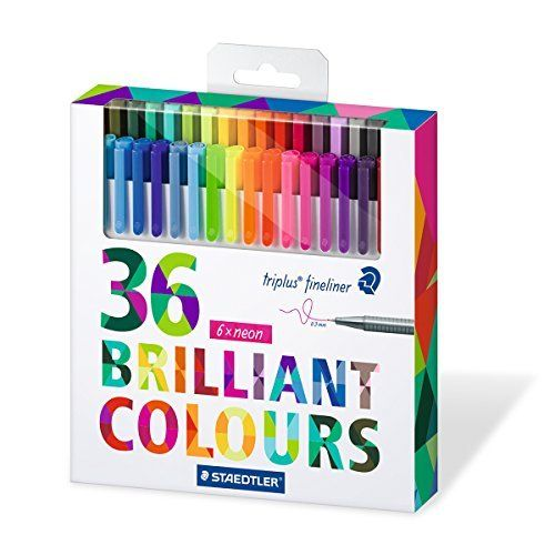 Staedtler Color Pen Set, Set of 36 Assorted Colors (Triplus Fineliner Pens), http://www.amazon.com/dp/B00VY9U9W0/ref=cm_sw_r_pi_awdm_2mpnxb001SMC9