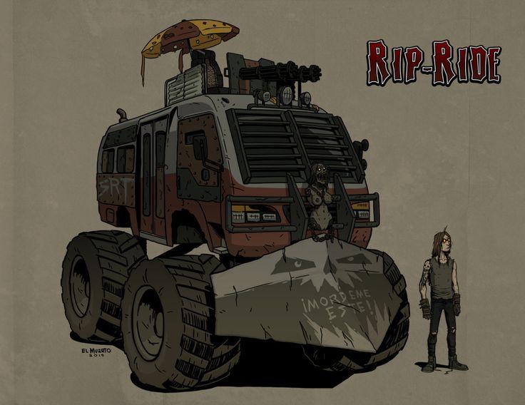 La ermita 2N from hell!!! RIP RIDE #SRTcomic #illustration #digitalpainting #artwork #comics #vehicle