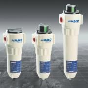 The JF Series features Compressed Air Filter to fill every need. Choose one of the five filters, or link them together for specialized application.  -Easy maintenance: drop in, snap up filter element -Operational reliability: high quality components -Energy saving: low pressure drop -Problem free application: silicone free
