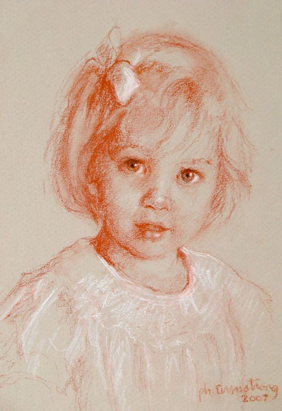 Phyllis F. Armstrong   Sepia Drawing Portraits