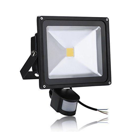 mctech Projecteur LED 50W avec détecteur de mouvement Lampe étanche blanc chaud noir: Cet article mctech Projecteur LED 50W avec…