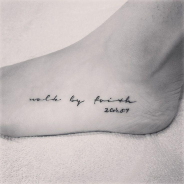 walk by faith tattooWalk By Faith Foot Tattoos