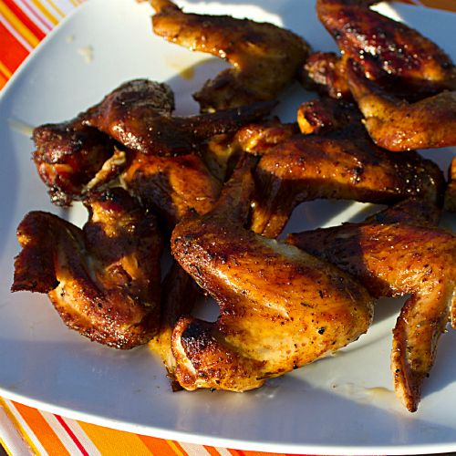 Smoked Chicken Wings - done in the Bradley Smoker