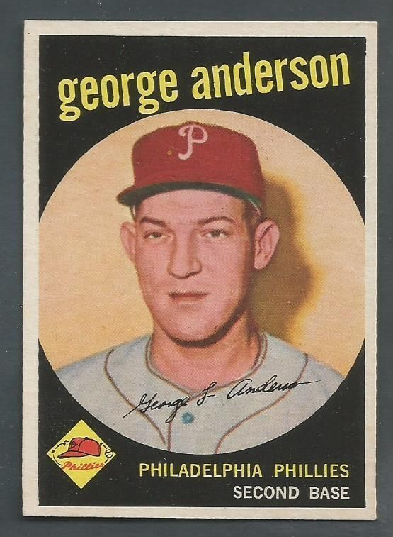 "1959 Topps #338 George Anderson RC Phillies ""Sparky"" CENTERED EXMT/NM"