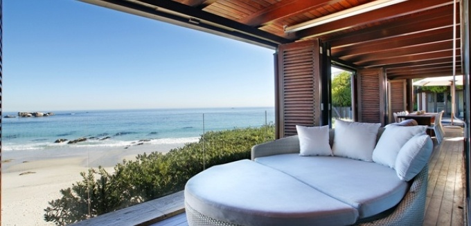 The view from Kaldene Villa, overlooking Cifton beach.
