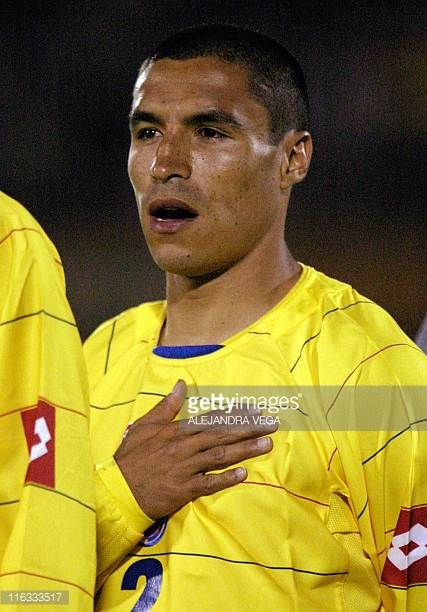 Ivan R Cordoba of Colombia's national soccer team poses before a friendly game against Paraguay 28 March at El Campin Stadium in Bogota AFP...