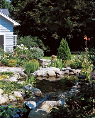 17 best images about ponds on pinterest gardens for Prefab waterfalls for ponds