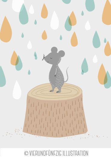 Tiere des Waldes: die Maus. Aprilmotiv für den neuen Kalender 2015