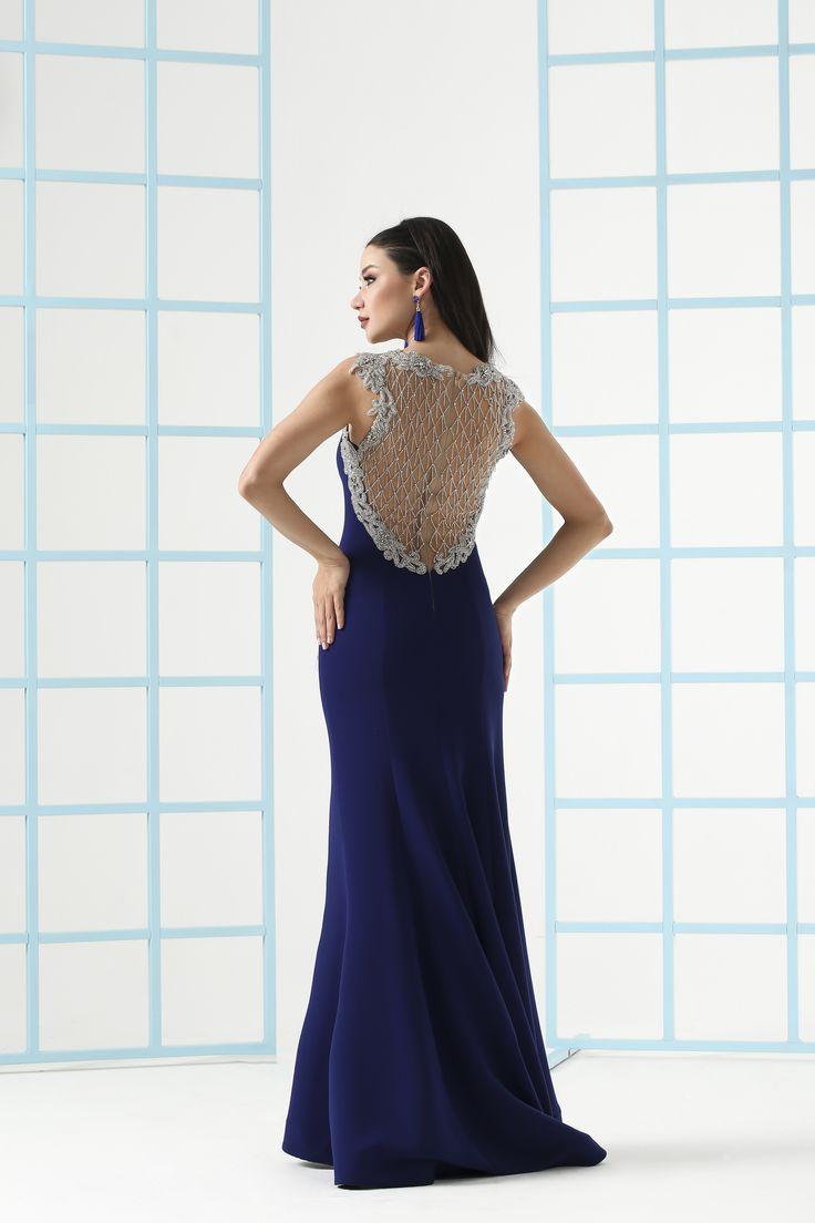 Abiye elbise modelleri, mezuniyet, düğün, mavi, nişan, balık abiyeler, kına kıyafeti, evlilik, gelinlik, saks elbise, abiye, 2018 abiye modelleri, Ankyra, aşk, 2018 evening dresses, dress, blue dress, royal blue dress, royal blue, evening gown, evening dresses, sırt dekolteli elbise, back detail dresses