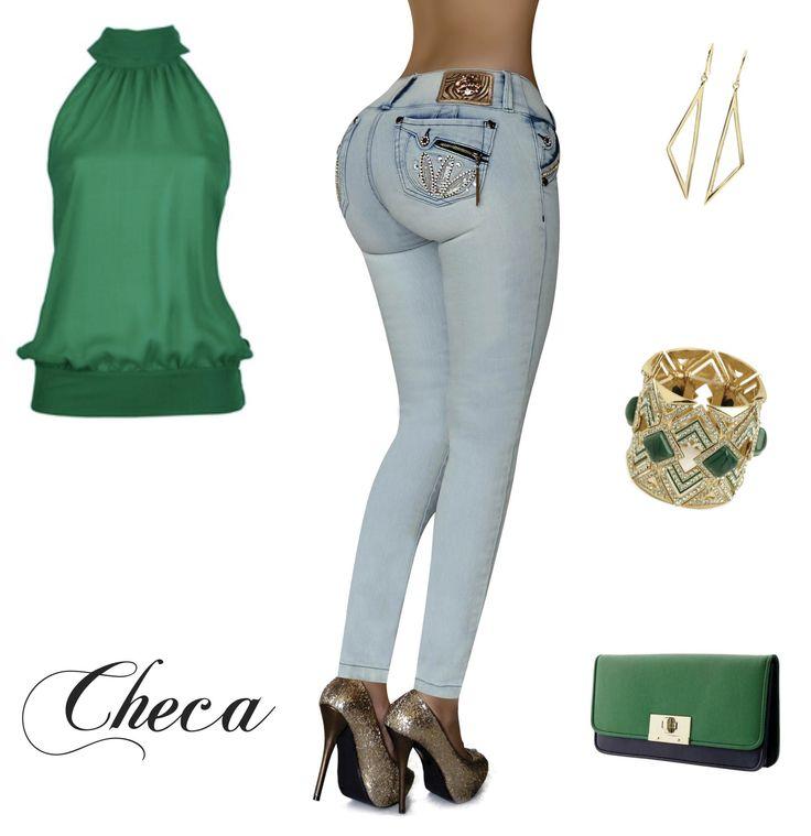 Deslumbra con el Verde Esmeralda, mezcla tus Checa Jeans con este fantastico color, crea un Look Chic y un Estilo 10