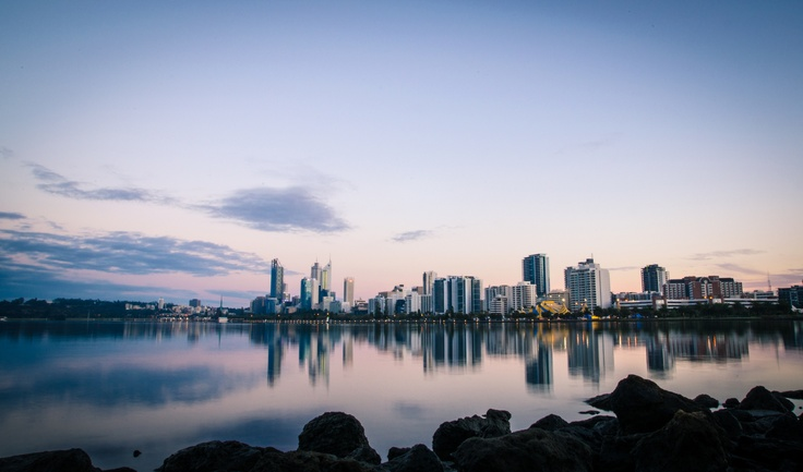 Perth city skyline, 2013