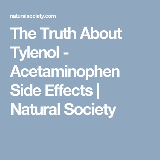 The Truth About Tylenol - Acetaminophen Side Effects | Natural Society