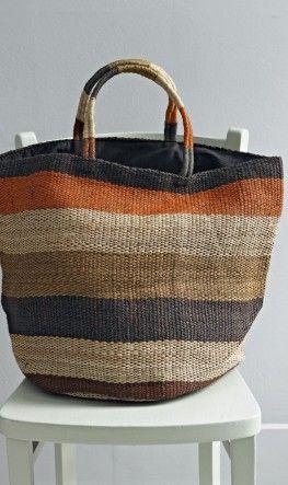 Oversized jute shopping bag.