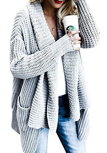 fisace women s loose fit long sleeve knitted cardigan swe https