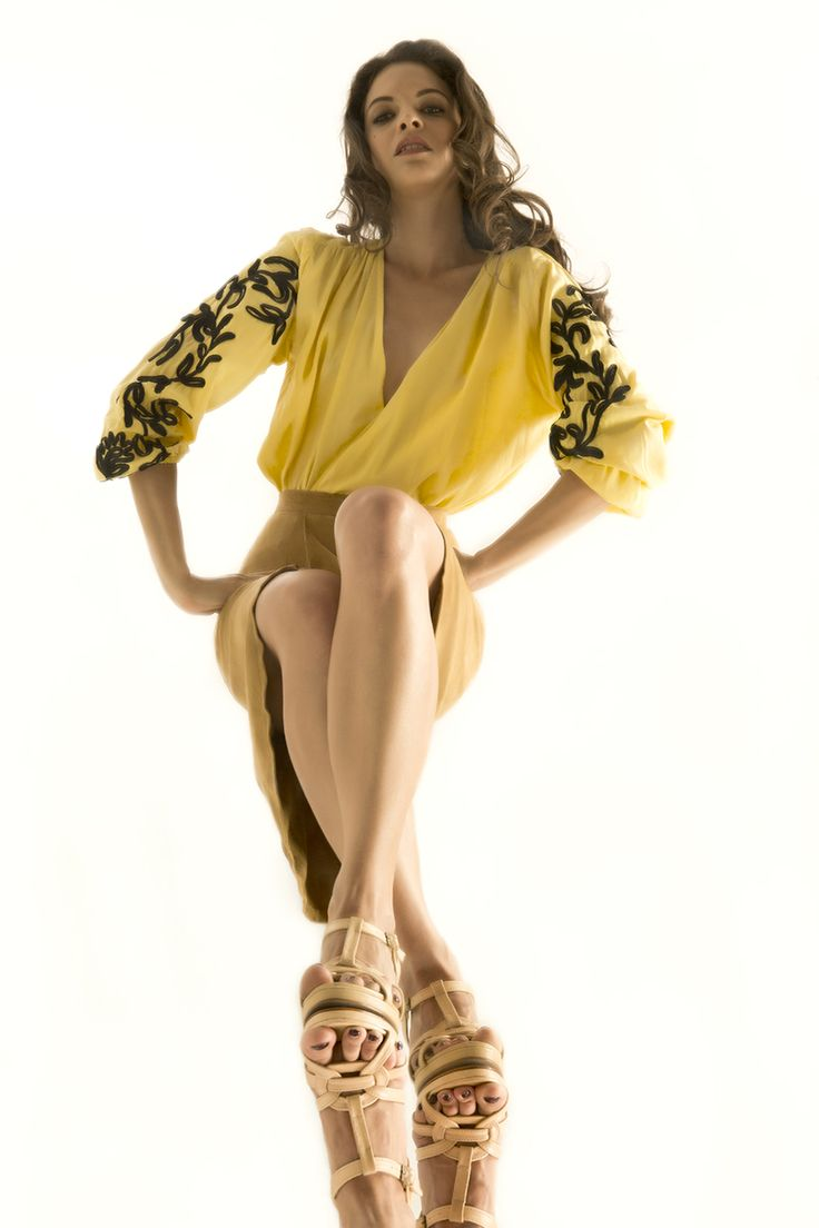 Wuthering Heights Cornelli Blouse (Available in Egg Yolk Yellow & Paradise Pink) and  Courtney Suede Skirt