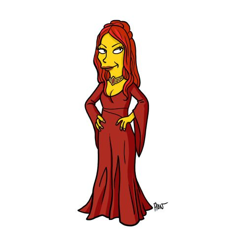 "Melisandre from ""Game of Thrones"" / Simpsonized by ADN"
