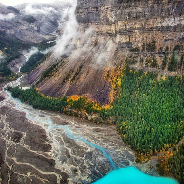 Beauty comes from every angle when you find yourself gazing upon Kinney Lake from above. Mount Robson Provincial Park, BC