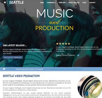 Seattle Production - The most stunning and easy to use Joomla template featuring a YouTube background movie...WOW! Adding your video to this feature packed and responsive template is as easy as pasting in the video URL. There is a quickstart package, user manual and extensions along with this fantastic Joomla template. Get your copy today, or click on the link below to find out more information to access the demo