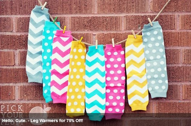 DAILY DEAL!  Girls Chevron & Polka Leg Warmers Only $2.49!  Ends 9/17/13.
