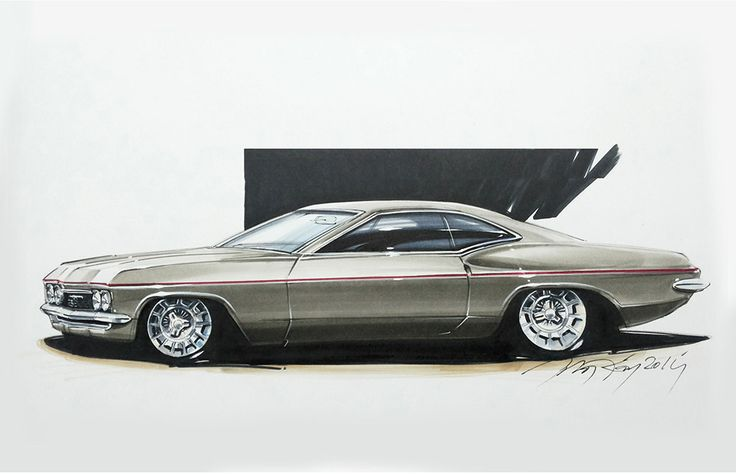 a photo in my class visual representation techniques...no2. Chip Foose style rendering. Sketch by Orhan Okay. #copicmarker #copic #rendering #car #designsketch #marker #design