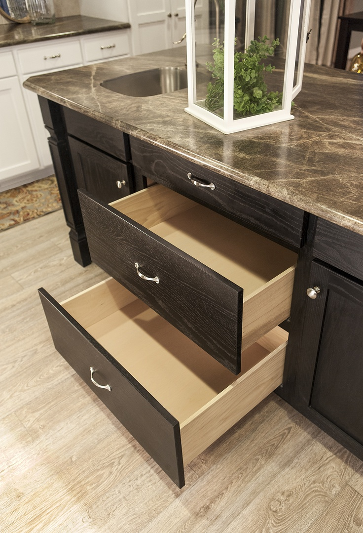 pots pans drawers in kitchen island the thoroughbred pinterest base cabinets dark and. Black Bedroom Furniture Sets. Home Design Ideas