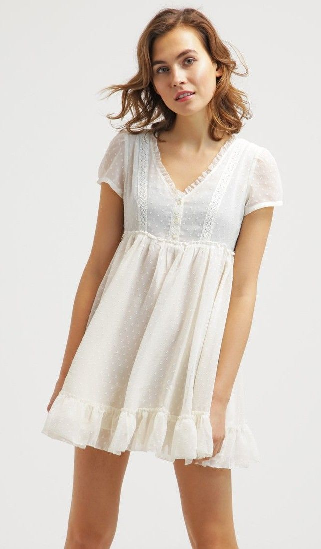 Vestito bianco e nero corto fashion