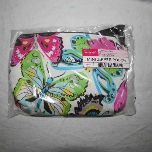 """Thirty-one Mini Zipper Pouch Flutter by Thirty-One. $17.99. measures 4.5""""H x 7.5""""W x 1.5""""D  Add a wrist strap and use as a wristlet."""
